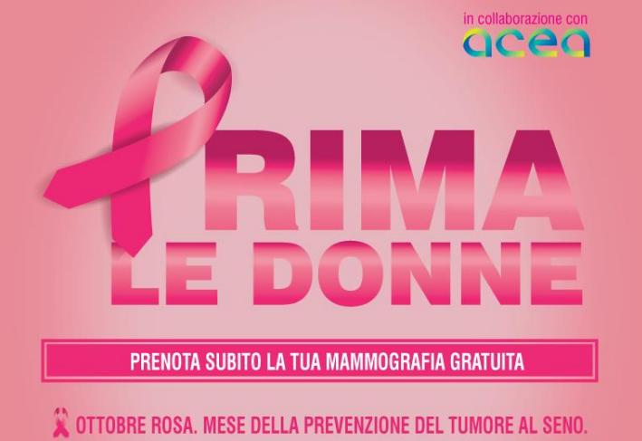 Prima le donne. Ottobre rosamese della prevenzione del tumore al seno.